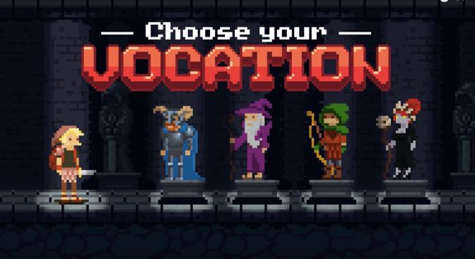 The Vocation | Animação em pixel art no estilo dos rpgs clássicos